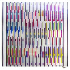 yaacov agam art | Yaacov Agam In & Out Agamograph Signed Contemporary Artist