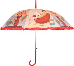 HOU-DY My Style Auto Open Frill Trendy Umbrella # Multi Color # Printed # Polyester