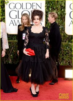 Helena Bonham Carter in Dolce & Gabbana at the Golden Globes 2013