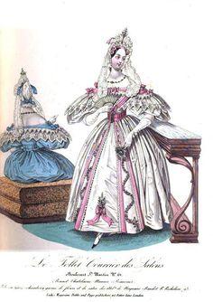 Grand Soiree or Dinner Dress, The Ladies Magazine, 1835