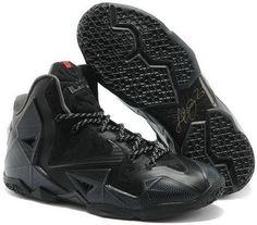 http://www.asneakers4u.com Nike Lebron 11 2013 All Black Running Shoes