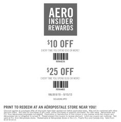 Pinned August 21st: $10 off $50 and more at #Aeropostale #coupon via The Coupons App