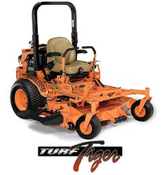 "Scag Turf Tiger -- ""I have only had a few days of cutting but I am highly impressed by what I have observed so far... The 35 HP Vanguard is a beast! I have been cutting stuff that is wet and tall and full of weeds and no change in the engine. The velocity deck is AMAZING! It has a massive discharge opening. It really throws the grass out and spreads it out evenly... The cut is really smooth and crisp...""  -CrockerLawns"