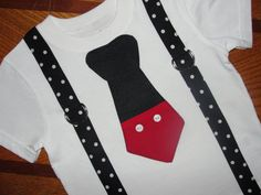 Mickey Mouse Tie T Shirt Or Onesie With Disney by HomeArtsBoerne