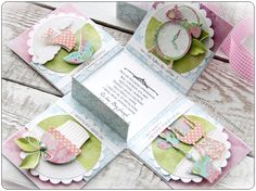 Galeria Papieru: Kolorowy ślub Exploding Box Card, Cardmaking And Papercraft, Magic Box, Baby Shower Cards, Paper Crafts, Scrapbooking, Gifts, Card Boxes, Up