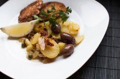 Sellerie-Schnitzel, Kartoffelsalat, mediterran, Food, vegan, Rezept, Kochen, gesund, healthy, Inspiration, Essen, Blog, stryleTZ