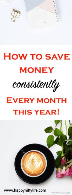 Here three simple steps you can take this year to save money every single month. #moneysavingtips #moneyhacks