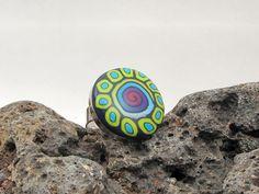 Mauritius  Polymer clay Ring  Fimo ring polymer von polymerdesign