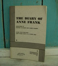 Vintage  The Diary of Anne Frank  A Play Book by honeystreasures, $40.00