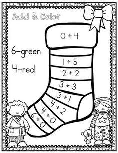 December Christmas Math Notebook (Math for the Entire Month! Kindergarten Math Activities, Preschool Activities, Math Math, Christmas Math, Christmas Worksheets, Grande Section, Math Addition, Math Notebooks, Math Centers