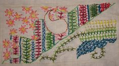 Interlaced up & down buttonhole stitch