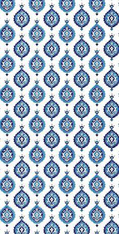 Blue Intricate Art Drops Pattern