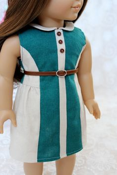 Teal Colorblock Drop Dress and Belt for by ClarissesCloset on Etsy