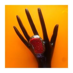 Beautiful Maroon Statement Ring 🌋 • NWOT • Lovely and detailed • Perfect accessory to make an outfit really shine! • Not sure where this was bought from Jewelry Rings