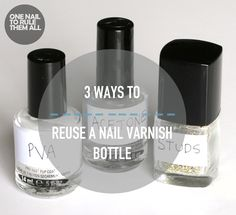 One Nail To Rule Them All: 3 Ways to Reuse Your Nail Polish Bottles, with Click Fragrance