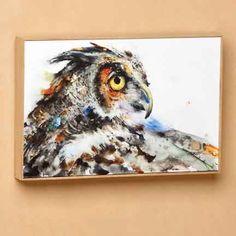 Dean Crouser Looking Back Owl Wall Art - Kolorful Kitchen