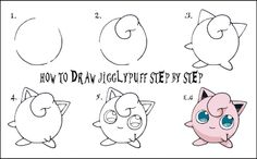 Daryl Hobson Artwork: How To Draw A Pokemon Step By Step: JIGGLYPUFF