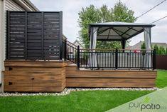 Ultimate Deck And Patio Area Retreat For Easy Living – Outdoor Patio Decor Patio Deck Designs, Patio Design, Patio Ideas, Porch Ideas, Backyard Ideas, Backyard Pergola, Patio Roof, Pergola Kits, Pergola Ideas