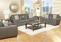 Cindy Crawford Home Gavello 7 Pc Leather Living Room Set includes Sofa, Loveseat & 3 Pc Table Set. Find affordable Living Room Sets for your home that will complement the rest of your furniture. Furniture, Classic Living Room, Home, Home Furniture, Affordable Living Room Set, Living Room Grey, Affordable Furniture Stores, Kid Friendly Living Room Furniture, Living Room Leather