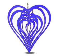 Metal Hanging Garden Wind Spinner Blue Heart Steel Garden or Home Ornament #Gardens2you #Contemporary Garden Wind Spinners, Garden Ornaments, Suncatchers, Metal, Garden Windmill, Sun Catcher