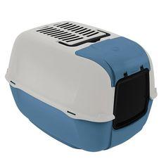 Toilet Home Prima Cabrio Azul Ferplast - Meuamigopet.com.br #cat #cats #gato #gatinho #bigode #muamigopet