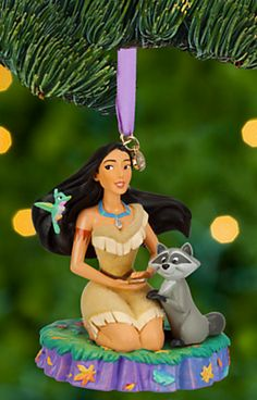 Pocahontas and Meeko Sketchbook Ornament -- Received this for Christmas, 2014. Thank you, Daisy Jane!