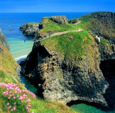 Here's a view of one of Ireland's more unique views: The Carrick-a-Rede Rope Bridge!