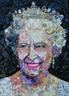 Famous Portrait Create With Objects by British artist Jane Perkins