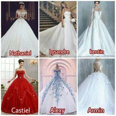 Por algum motivo o vestido do alexy é o mais bonito kkkkk