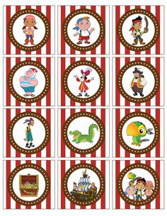 jake and the neverland pirates free printables | Jake and the Neverland Pirates Stickers by UltimateParties on Etsy