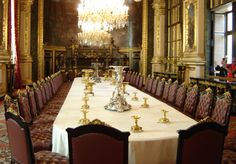 Louvre Museum Picture - Napoleon III, who became Emperor of France, had a lavish apartment in the Louvre. This picture shows the dinning room that you can visit in the museum.    The Louvre in Paris is one of the greatest art museums in the world. It is located in a former royal palace in the center of Paris and next to the Seine River. http://www.visitingdc.com/paris/louvre-museum