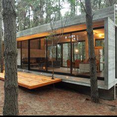 BAK Arquietectos Mar Azul, Argentina #cabin #home #woods #forest #live #home #cottage