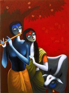 Krishna by Santosh Chattopadhyay