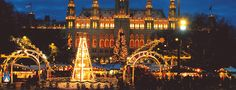 Austria - Vienna in Town Hall/ Rathaus Vienna Christmas, Best Christmas Markets, Christmas Markets Europe, Christmas Stuff, White Christmas, Christmas Holiday, Christmas Lights, Vintage Christmas, Top 10 Destinations