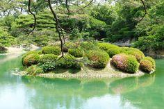 南湖、栗林公園、高松 South Lake, Ritsurin Garden, Takamatsu