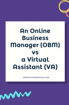 It can be hard to know the difference between an Online Business Manager (OBM) and a Virtual Assistant (VA). This post breaks down the differences so you can work out what you need in your business Business Advisor, Business Entrepreneur, Business Planning, Business Marketing, Business Tips, Online Marketing, Online Business, Business Management, Time Management