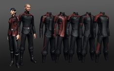 Star Trek uniforms....If I ever saw these for sale anywhere I would totally buy one!  :)