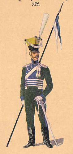 BAYERN - Trooper Uhlan Regiment: 1813