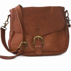 Brown handbag - Rancho shoulder bag (leather)
