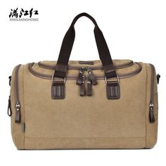 Canvas Trunk Men Women Travel Bags Carry on Luggage Foldable Purse Duffel  Tote Large Big Shoulder Messenger Weekend Handbag f147f849e9