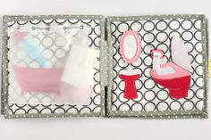 Travel dollhouse book felt paper doll busy book 2-12 by TomToy