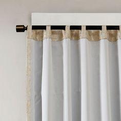 Luxury Gold /& Tan Jacquard TOTAL BLACKOUT Rod Pocket//Back Tabs Curtain Panel