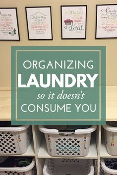 Organizing Laundry so It Doesn't Consume You Is Mt. Laundry taking over your home? It's time to take control. You'll love these tips for organizing laundry, teaching kids to help and I've even got FREE printables!