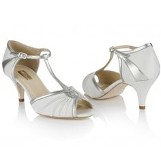 Matilda By Rachel Simpson Ivory Vintage Silk Designer Wedding Or Occasion Shoes Low Heel
