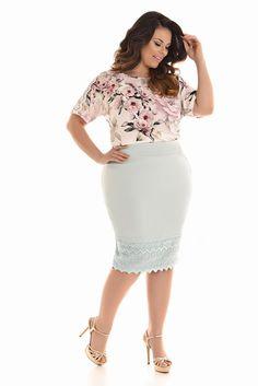 Curvy friends - plus size fashion tips, videos and photos Plus Size Dresses, Plus Size Outfits, Trendy Outfits, Fashion Outfits, Womens Fashion, Plus Size Girls, Plus Size Women, Cute Skirt Outfits, Plus Size Fashion Tips
