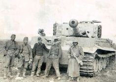 German Tiger Tank and Crew during WWII