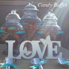 Chocolate brown & tiffany blue candy table by www.candybuffetsa.co.za