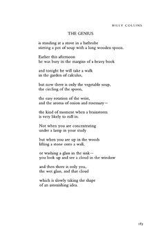 The Genius - Billy Collins