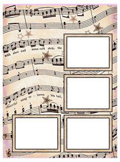 ArtbyJean - Vintage Sheet Music: ---SCRAPBOOK LAYOUT PAGES: