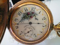 Modest Antique Hebdomas 8 Days Full Hunter Art-nouveau Case Pocket Watch Antique Jewelry & Watches